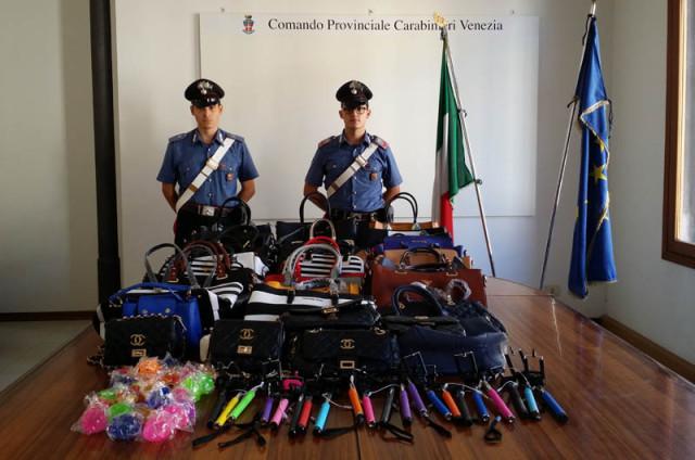 maxi sequestro di prodotti contraffatti