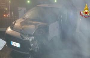 Incendio tra due mezzi a San Stino di Livenza