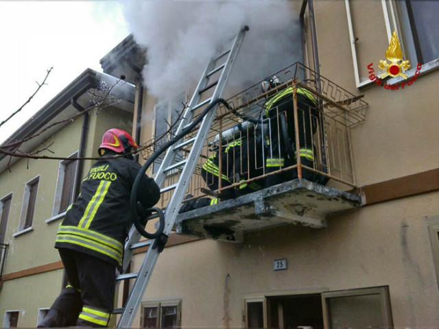 Incendio ad un appartamento a San Stino di Livenza