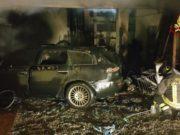 incendio in un garage