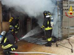 Incendio di un garage