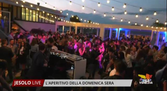 L\'aperitivo della domenica al Terrazza Mare di Jesolo | Venezia Radio TV