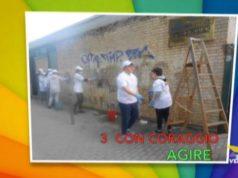 Via i graffiti dalla scuola Einaudi di Marghera