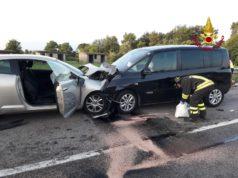 Scontro frontale tra due auto in località Montiron