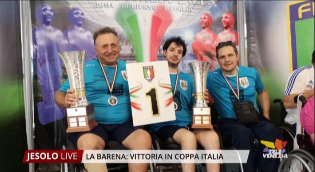 Associazione La Barena: vittoria in Coppa Italia