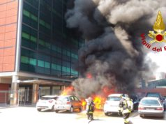 Incendio di un camper in Via Torino