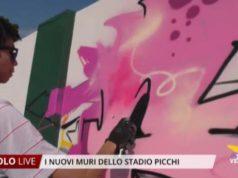 I nuovi muri dello Stadio Picchi di Jesolo
