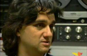 Gaetano Curreri degli Stadio a Televenezia nel 1993