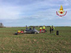 Caorle: aereo si schianta a terra