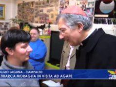Il patriarca Moraglia in visita ad AGAPE