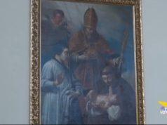 Riscoperta una pala d'altare in una chiesa a Crea