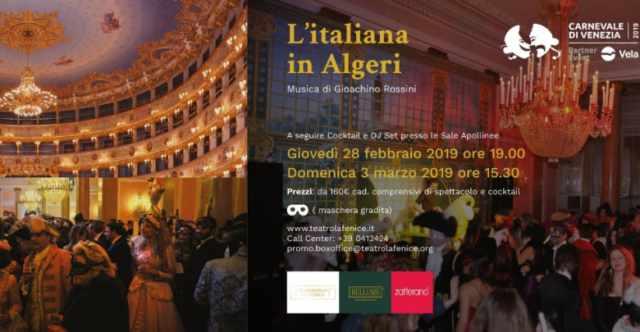 Carnival Cocktail: l'Italiana in Algeri al Teatro La Fenice