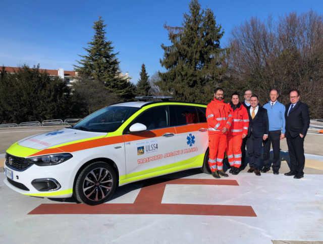 Una nuova auto medica per il trasporto di organi e plasma
