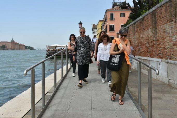Inaugurata la rampa sul ponte de La Calcina alle Zattere