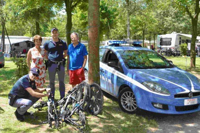 Ritrovate due biciclette da 3 mila euro